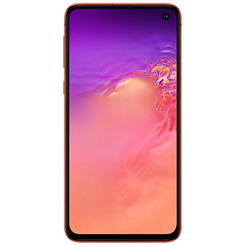 Samsung Galaxy S10eFactory Unlocked Android Cell Phone | US Version |128GBof Storage | Fingerprint ID and Facial Recognition | Long-Lasting Battery | U.S. Warranty | Flamingo Pink