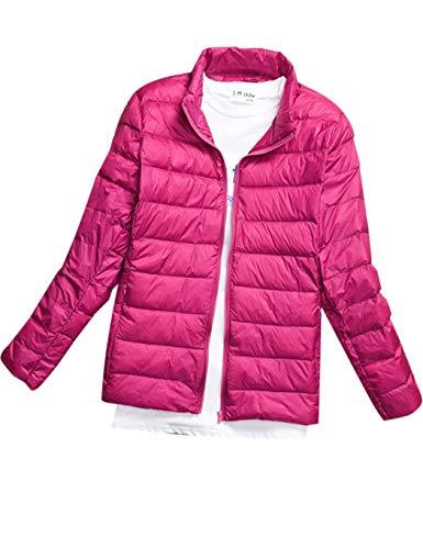 Rose Hivert Femme Zippe Duvet Veste Grande Montant 4xl Rouge Jott Chaud 5xl Doudoune Taille Blouson Court Serface Jacket Gilet Col En qwHgXI