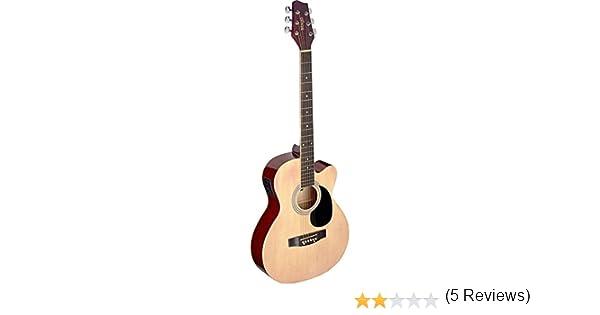 Guitarra acústica de auditorio Stagg, natural: Amazon.es ...