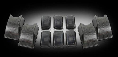 2003-09-hummer-h2-dark-smoked-cab-roof-lights-lenses-set-of-10-w-bulbs-dot-sae-