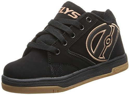 Heelys Propel 2.0 Unisex Sneakers, Multicolor(Black/Gum), 9 UK