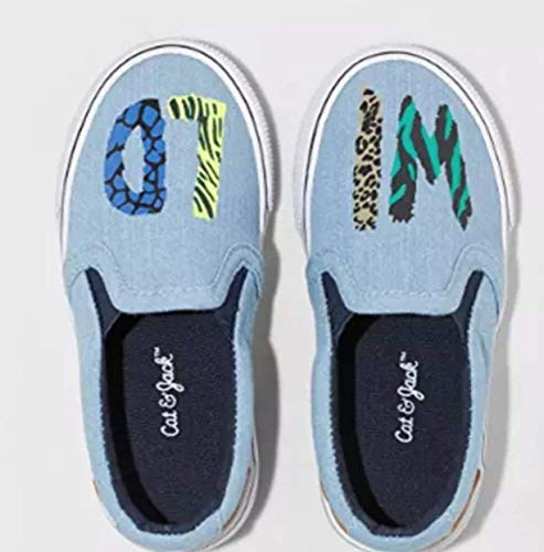 Cat & Jack Toddler Boys' Tom Wild Twin Gore Sneakers (11) Blue from Cat & Jack