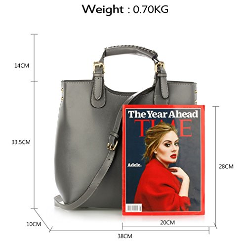 For GREY Bags Body Faux LeahWard BAG Bags Women's Leather Baggage NUDE Women Cross Shoulder Gym GRAB Holiday Weekend Travel Handbags Tote Shopping HwqzxSw8
