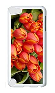 Ipod 5 Case,MOKSHOP Cute closed tulip buds Hard Case Protective Shell Cell Phone Cover For Ipod 5 - PC White