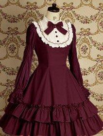 22f246985 ゴスロリィタ Lolita ロリータ服 衣装 洋服 COSMAMA LLTLZY0068 レッドとホワイト 長袖 ゴシック ゴスロリ プリンセス お嬢様