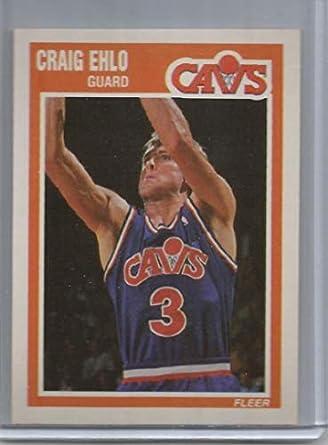 b43ecabb3 1989-90 Fleer Basketball Card  26 Craig Ehlo RC Rookie Card Cleveland  Cavaliers Official