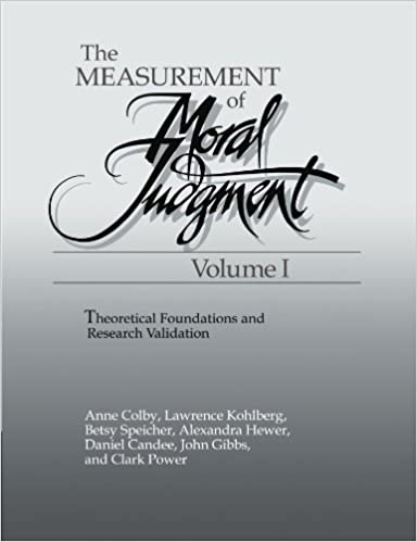 The Measurement of Moral Judgment: Volume 1
