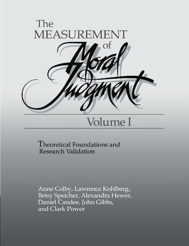 1: The Measurement of Moral Judgment (The Measurement of Moral Judgment 2 Volume Set)