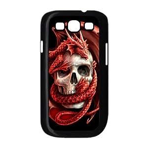 LZHCASE Diy Back Case Red Dragon For Samsung Galaxy S3 i9300 [Pattern-1]