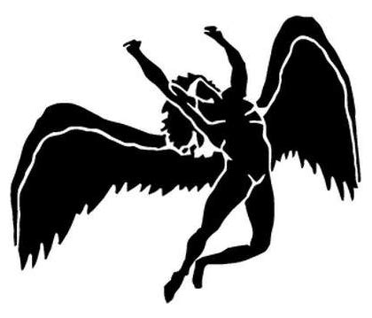 - Led Zeppelin Angel Rock Band - Sticker Graphic - Auto, Wall, Laptop, Cell, Truck Sticker for Windows, Cars, Trucks