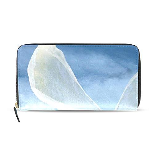 Womens Wallets Angel Wings Leather Passport Wallet Coin Purse Girls Handbags ()