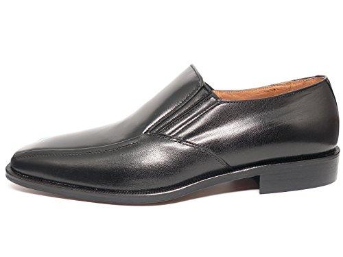 hombre vestir negro cabra marca DONATTELLI de mocasin 3 Zapato piel en 9408 negro fqESnxS7dw