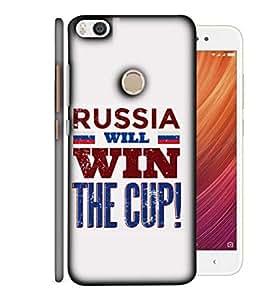 ColorKing Football Russia 04 White shell case cover for Xiaomi Mi Max 2