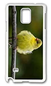 MOKSHOP Adorable fluffly bird Hard Case Protective Shell Cell Phone Cover For Samsung Galaxy Note 4 - PC White