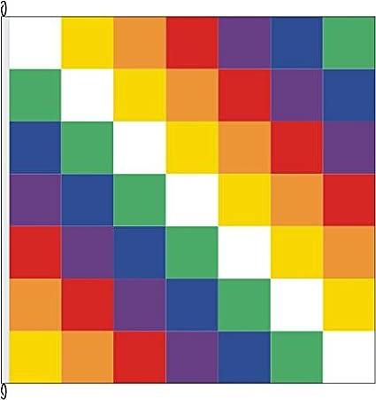 Pequeño Bandera Bolivia (wiphala) – 20 x 30 cm – Bandera y: Amazon ...