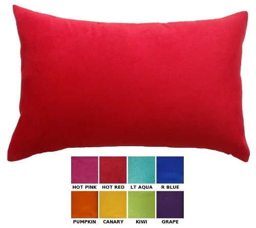 DreamHome - Solid Faux Suede Decorative Pillow Cover/Sham, 12