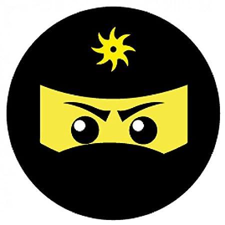 1art1 Gaming - Icono Ninja, Amarillo Vinilo Decorativo ...