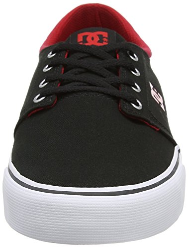 Sneaker Black Red DC Schwarz TX White Shoes Herren Trase xUqTIP