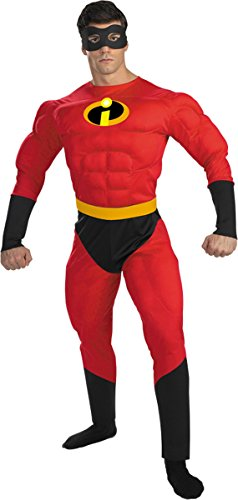 Morris Costumes Men's MR INCREDIBLE MUSCLE ADULT, 42-46 (Mr Incredible Adult Costume)