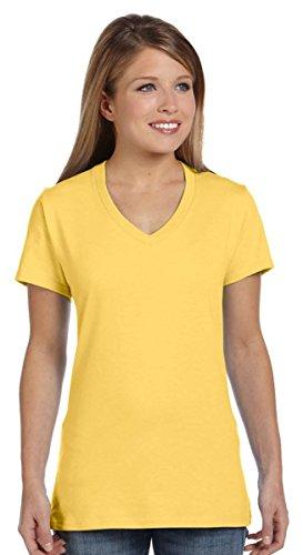 Hanes Women's Nano- V-Neck T-Shirt VINTAGE GOLD - Gear T-shirt Yellow