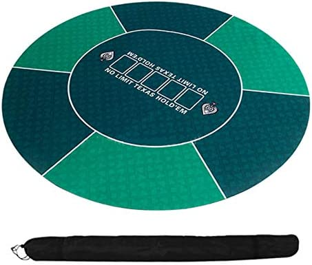 Draagbaar pokertafelblad Portable Poker Table Top 120cm Texas Hold'em Poker Table Doek Rubber Poker Mat Ronde Tafel Mat 3mm Board Game Doek-outs