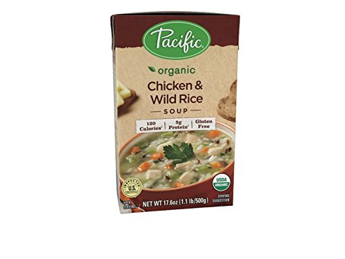 Easy Chicken Rice Soup (Pacific Foods Organic Chicken with Wild Rice Soup, 17.6-Ounce Cartons, 12-Pack)