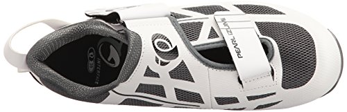 Pearl iZUMi Women's W Tri Fly Select V6 Cycling Shoe, White/Shadow Grey, 42 EU/10 B US by Pearl iZUMi (Image #8)