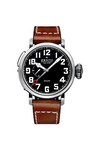 Zenith Elite Pilot Automatic Black Dial Mens Watch 03.2430.693/21.C723