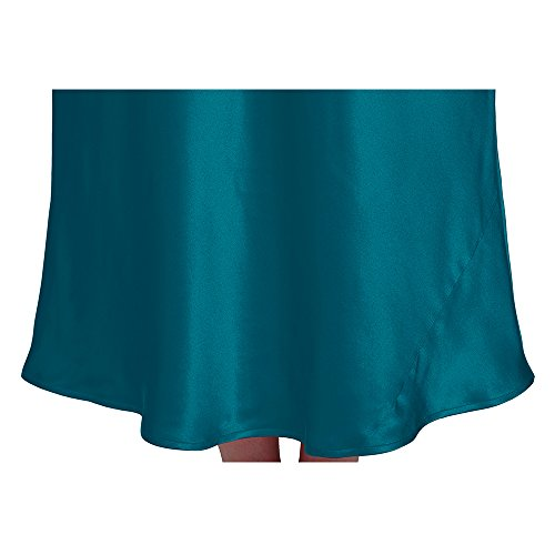 reale Pura Donna Seta Notte Camicia Profondo Seta Da Indietro Momme 22 Scoop Di LILYSILK Blu In Con qfRaOX