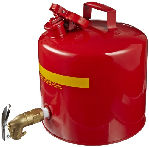 Eagle 1417 Faucet Safety Can, 5 Gallon Capacity, 12-1/2'' Width x 13-1/2'' Depth, Red by Eagle