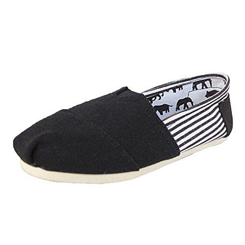 Basse Cucito Splice Di Unisex Colore Casuali Loafers Nere Della Kunfang Tela Filo Totem Da Strisce Scarpe Caramella Lovers ROAdnqX