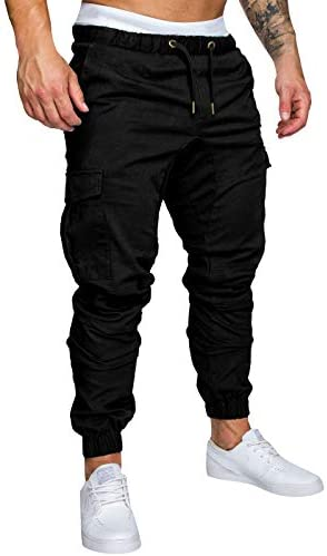 Yidarton Men's Cargo Pants Slim Fit Casual Jogger Pant Chino Trousers Sweatpants