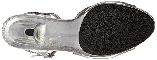 Fabulicious BELLE-309 Slv Metallic Pu/Clr Size UK 10 EU 43