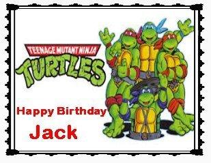 (Teenage Mutant Ninja Turtles Personalized Edible Image Cake Topper Birthday Party Favor)