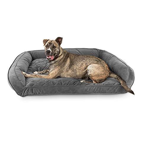 - Harmony Urban Luxe Gray Memory Foam Sleeper Dog Beds, 48
