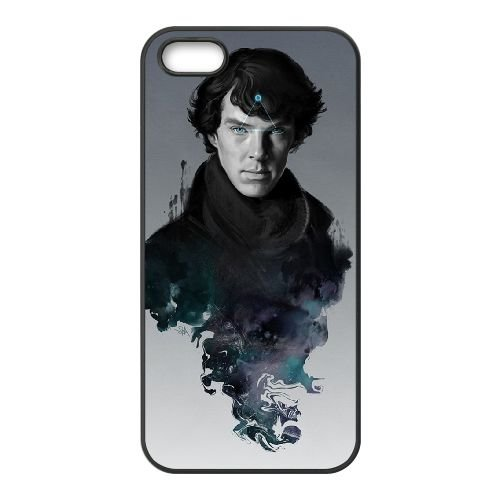 Benedict Cumberbatch 011 coque iPhone 4 4S cellulaire cas coque de téléphone cas téléphone cellulaire noir couvercle EEEXLKNBC23521