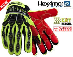 EXT Rescue - HexArmor - 4014 Extrication Glove with waterproof/pathogen liner, SIZE: MEDIUM - Barrier Extrication Gloves