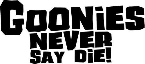 Goonies Never Say Die Vinyl Decal Sticker- 8