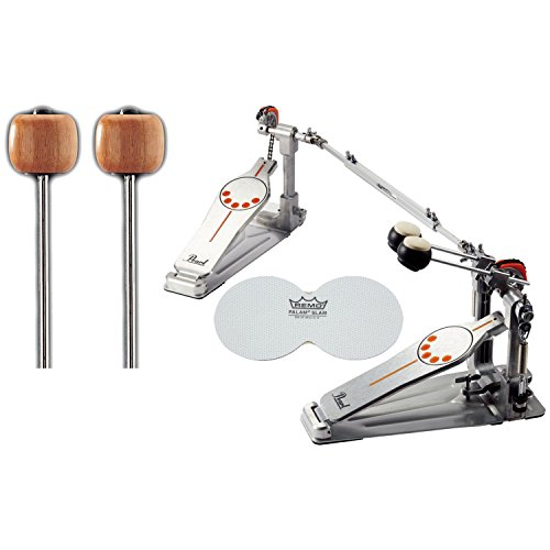 Pearl P932 Double Bass Drum Pedal w/ Extra Wood Beaters and a Bass Drum (Pearl Double Bass)