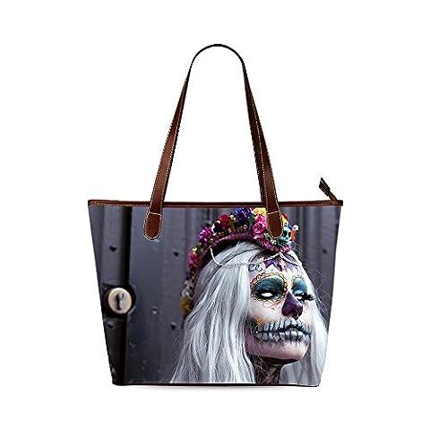 Sugar Skull Custom Interest Print Tote Bag - Earthway Bag Seeder