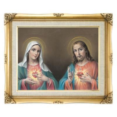 Twin Hearts Framed Art by Discount Catholic Store