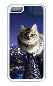 iPhone 5c case, Cute The Cat Upstairs iPhone 5c Cover, iPhone 5c Cases, Soft Whtie iPhone 5c Covers