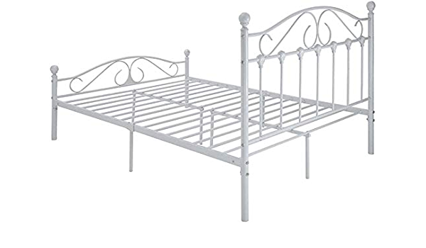 Somier de metal doble con muebles de dormitorio amplio ...