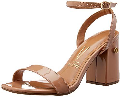 Sandálias Premium, Vizzano, Feminino, Verniz Nude, 37
