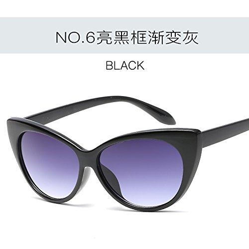 mujer ZHANGYUSEN Retro Tonos de UV400 moda Vintage C4 Gafas gafas sol de Gato femenina de C6 de gafas Ojo sexy C0qCxwrT