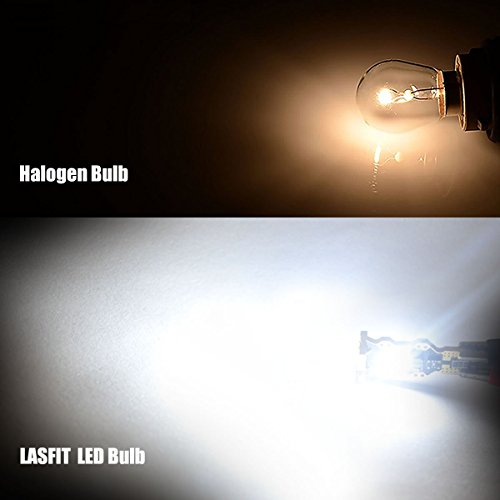 LASFIT 912 921 T15 906 W16W LED Light Bulb SMD 3030 Chipsets 1400 Lumens Extremely Bright for Car Interior Dome Trunk Reverse Backup Lights, Polarity Free, Xenon White(Pack of 2) by LASFIT (Image #1)