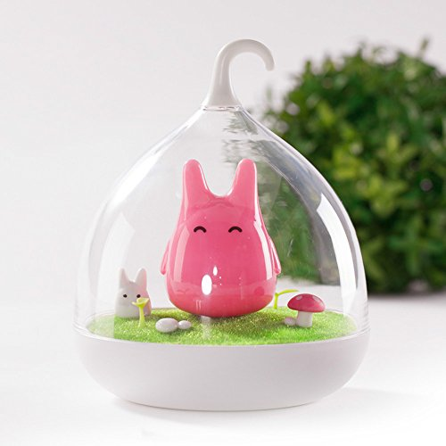 Vibration Children's Night Lights Touch Sensor Birdcage Chargeable LED Lamp Hand-held Design Portable Night Lamp with USB Charging Cable for Kids/Babys as Sleeping Light/Home Decor (Pink) (Base Birdcage Lamp)