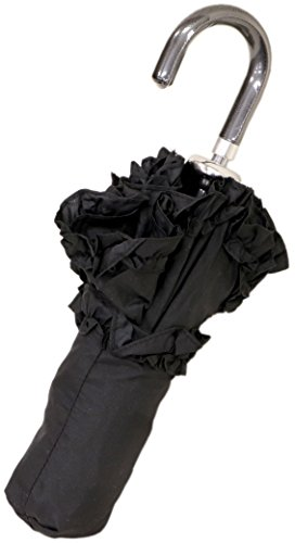 Lisbeth Dahl Black with Flounce Umbrella with Bag by Lisbeth Dahl