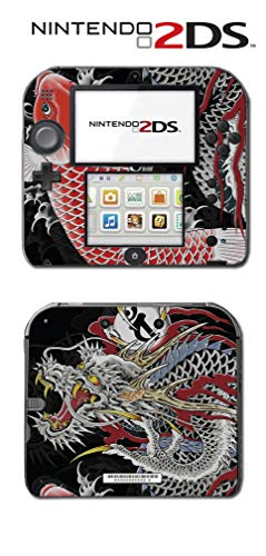 Yakuza 4 5 6 Japanese Tattoo Dragon Koi Fish Video Game Vinyl Decal Skin Sticker Cover for Nintendo 2DS System Console ()