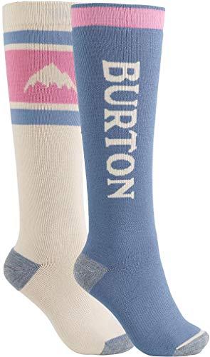Burton Women's Weekend Midweight Sock 2-Pack, Pelican, Medium\\Large